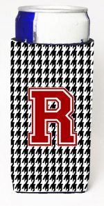 Carolines Treasures CJ1021-RMUK Houndstooth Monogram Letter R Michelob Ultra s For Slim Cans
