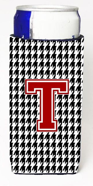 Carolines Treasures CJ1021-TMUK Houndstooth Letter T Michelob Ultra s For Slim Cans