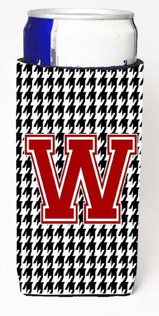 Carolines Treasures CJ1021-WMUK Houndstooth Letter W Michelob Ultra s For Slim Cans