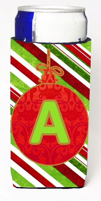 Carolines Treasures CJ1039-AMUK Christmas Ornament Holiday Monogram Initial Letter A Michelob Ultra s For Slim Cans