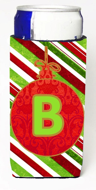 Carolines Treasures CJ1039-BMUK Christmas Ornament Holiday Monogram Initial Letter B Michelob Ultra s For Slim Cans