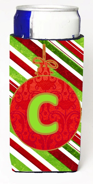 Carolines Treasures CJ1039-CMUK Christmas Ornament Holiday Monogram Initial Letter C Michelob Ultra s For Slim Cans