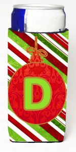 Carolines Treasures CJ1039-DMUK Christmas Ornament Holiday Monogram Initial Letter D Michelob Ultra s For Slim Cans
