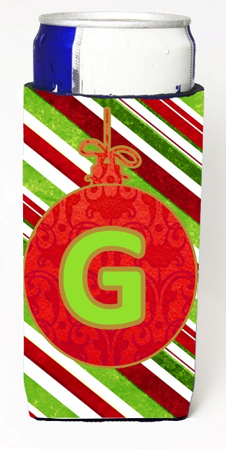 Carolines Treasures CJ1039-GMUK Christmas Ornament Holiday Monogram Initial Letter G Michelob Ultra s For Slim Cans