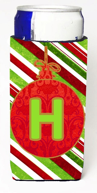 Carolines Treasures CJ1039-HMUK Christmas Ornament Holiday Monogram Initial Letter H Michelob Ultra s For Slim Cans