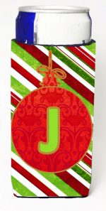 Carolines Treasures CJ1039-JMUK Christmas Ornament Holiday Monogram Initial Letter J Michelob Ultra s For Slim Cans
