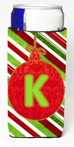 Carolines Treasures CJ1039-KMUK Christmas Ornament Holiday Monogram Initial Letter K Michelob Ultra s For Slim Cans