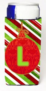 Carolines Treasures CJ1039-LMUK Christmas Ornament Holiday Monogram Initial Letter L Michelob Ultra s For Slim Cans