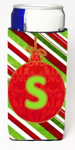 Carolines Treasures CJ1039-SMUK Christmas Ornament Holiday Monogram Initial Letter S Michelob Ultra s For Slim Cans