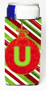 Carolines Treasures CJ1039-UMUK Christmas Ornament Holiday Monogram Initial Letter U Michelob Ultra s For Slim Cans