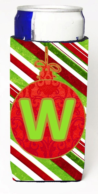 Carolines Treasures CJ1039-WMUK Christmas Ornament Holiday Monogram Initial Letter W Michelob Ultra s For Slim Cans