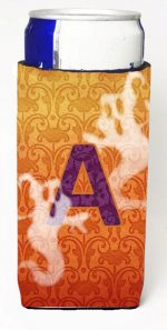 Carolines Treasures CJ1040-AMUK Halloween Ghosts Monogram Initial Letter A Michelob Ultra s For Slim Cans