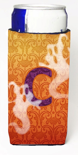 Carolines Treasures CJ1040-CMUK Halloween Ghosts Monogram Initial Letter C Michelob Ultra s For Slim Cans