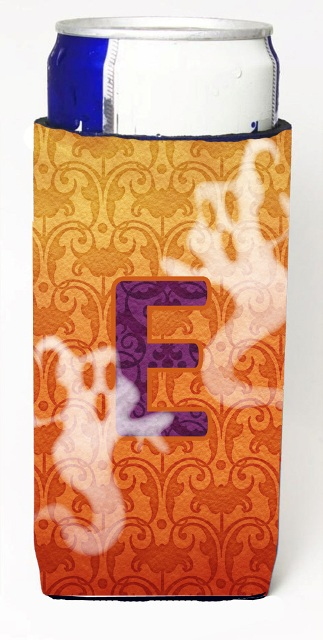 Carolines Treasures CJ1040-EMUK Halloween Ghosts Monogram Initial Letter E Michelob Ultra s For Slim Cans