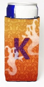 Carolines Treasures CJ1040-KMUK Halloween Ghosts Monogram Initial Letter K Michelob Ultra s For Slim Cans
