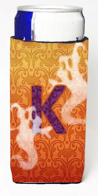 Carolines Treasures CJ1040-KMUK Halloween Ghosts Monogram Initial Letter K Michelob Ultra s For Slim Cans