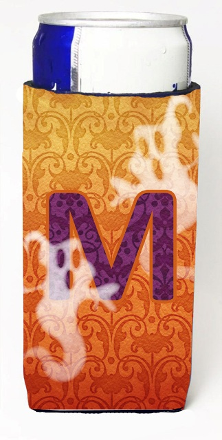 Carolines Treasures CJ1040-MMUK Halloween Ghosts Monogram Initial Letter M Michelob Ultra s For Slim Cans