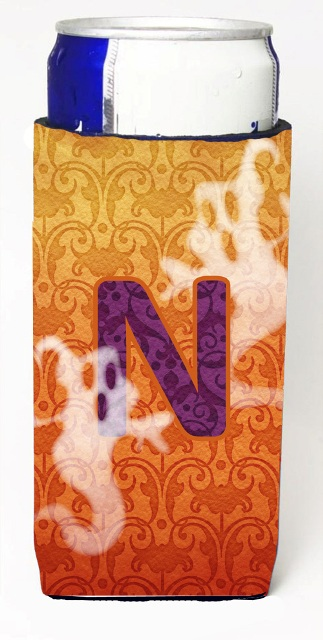 Carolines Treasures CJ1040-NMUK Halloween Ghosts Monogram Initial Letter N Michelob Ultra s For Slim Cans
