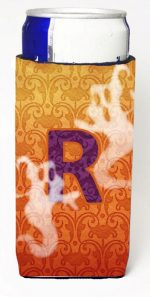 Carolines Treasures CJ1040-RMUK Halloween Ghosts Monogram Initial Letter R Michelob Ultra s For Slim Cans