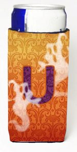 Carolines Treasures CJ1040-UMUK Halloween Ghosts Monogram Initial Letter U Michelob Ultra s For Slim Cans