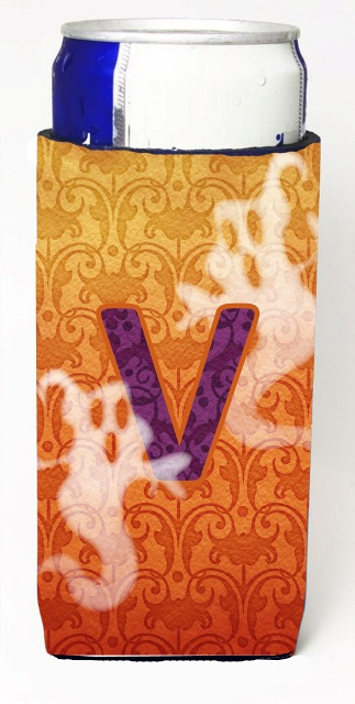 Carolines Treasures CJ1040-VMUK Halloween Ghosts Monogram Initial Letter V Michelob Ultra s For Slim Cans
