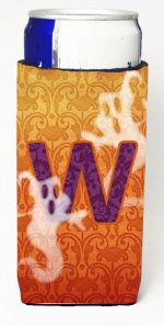 Carolines Treasures CJ1040-WMUK Halloween Ghosts Monogram Initial Letter W Michelob Ultra s For Slim Cans