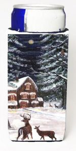 Carolines Treasures CN5054MUK Winter Scene With Deer Michelob Ultra s For Slim Cans - 12 oz.