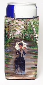 Carolines Treasures CN5056MUK Fancy Lady On A Stroll Michelob Ultra s For Slim Cans - 12 oz.