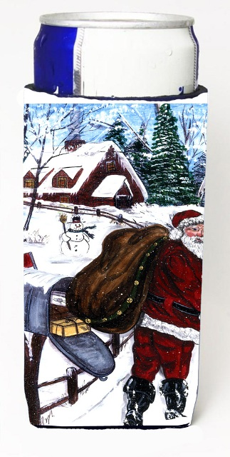 Carolines Treasures CN5288MUK Santa Claus Delivering Packages Michelob Ultra s For Slim Cans - 12 oz.