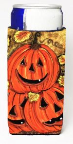 Carolines Treasures CN5331MUK Stack Of Pumpkins Jack-O-Laterns Michelob Ultra s For Slim Cans - 12 oz.