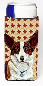 Carolines Treasures LH9108MUK Corgi Fall Leaves Portrait Michelob Ultra s For Slim Cans - 12 oz.