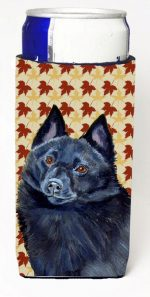 Carolines Treasures LH9114MUK Schipperke Fall Leaves Portrait Michelob Ultra s For Slim Cans - 12 oz.