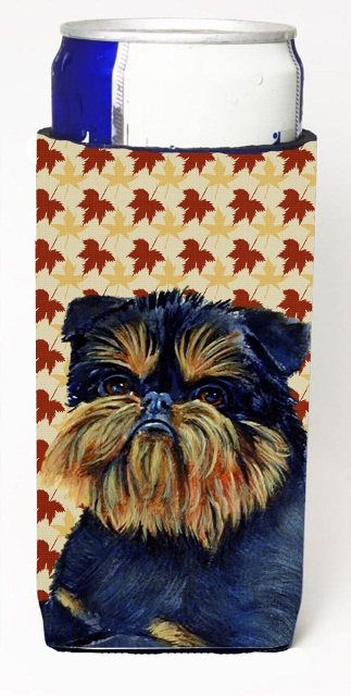 Carolines Treasures LH9118MUK Brussels Griffon Fall Leaves Portrait Michelob Ultra s For Slim Cans - 12 oz.