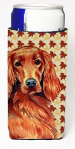 Carolines Treasures LH9119MUK Irish Setter Fall Leaves Portrait Michelob Ultra s For Slim Cans - 12 oz.