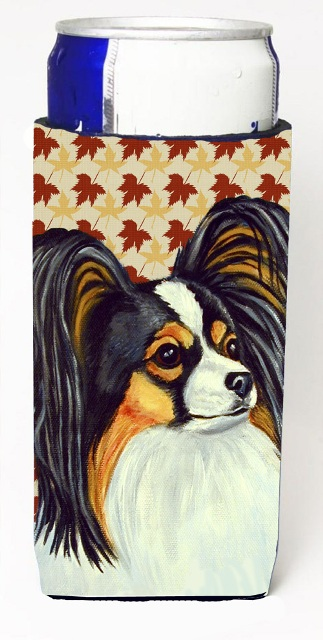 Carolines Treasures LH9120MUK Papillon Fall Leaves Portrait Michelob Ultra s For Slim Cans - 12 oz.