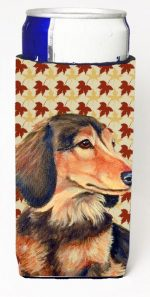 Carolines Treasures LH9121MUK Dachshund Fall Leaves Portrait Michelob Ultra s For Slim Cans - 12 oz.