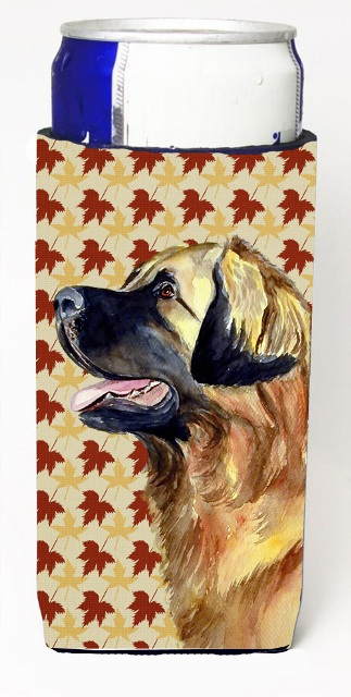 Carolines Treasures LH9123MUK Leonberger Fall Leaves Portrait Michelob Ultra s For Slim Cans - 12 oz.