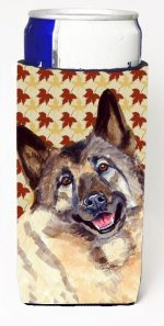 Carolines Treasures LH9128MUK Norwegian Elkhound Fall Leaves Portrait Michelob Ultra s For Slim Cans - 12 oz.