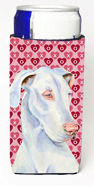 Carolines Treasures LH9131MUK Great Dane Hearts Love And Valentines Day Portrait Michelob Ultra s For Slim Cans - 12 oz.