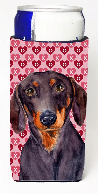 Carolines Treasures LH9133MUK Dachshund Hearts Love And Valentines Day Portrait Michelob Ultra s For Slim Cans - 12 oz.