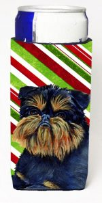 Carolines Treasures LH9253MUK Brussels Griffon Candy Cane Holiday Christmas Michelob Ultra bottle sleeves For Slim Cans - 12 oz.
