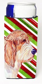 Carolines Treasures LH9262MUK Petit Basset Griffon Vendeen Candy Cane Holiday Christmas Michelob Ultra bottle sleeves For Slim Cans - 12 oz.
