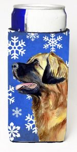 Carolines Treasures LH9303MUK Leonberger Winter Snowflakes Holiday Michelob Ultra bottle sleeves For Slim Cans - 12 oz.
