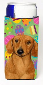 Carolines Treasures LH9402MUK Dachshund Easter Eggtravaganza Michelob Ultra s For Slim Cans - 12 oz.