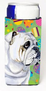 Carolines Treasures LH9409MUK Bulldog English Easter Eggtravaganza Michelob Ultra s For Slim Cans - 12 oz.
