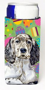 Carolines Treasures LH9412MUK English Setter Easter Eggtravaganza Michelob Ultra s For Slim Cans - 12 oz.