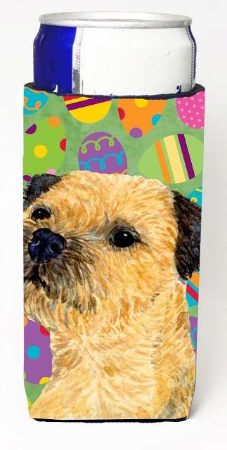 Carolines Treasures LH9413MUK Border Terrier Easter Eggtravaganza Michelob Ultra s For Slim Cans - 12 oz.