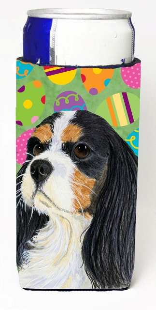 Carolines Treasures LH9414MUK Cavalier Spaniel Easter Eggtravaganza Michelob Ultra s For Slim Cans - 12 oz.