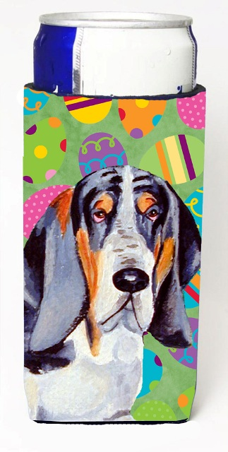 Carolines Treasures LH9417MUK Basset Hound Easter Eggtravaganza Michelob Ultra s For Slim Cans - 12 oz.