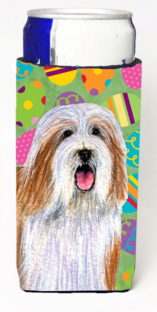 Carolines Treasures LH9420MUK Bearded Collie Easter Eggtravaganza Michelob Ultra s For Slim Cans - 12 oz.